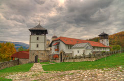 Monastery Mileseva, Western Serbia - autumn picture Royalty Free Stock Photography