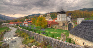 Monastery Mileseva, Western Serbia - autumn picture Stock Image