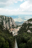 Monastery of montserrat from above Royalty Free Stock Image