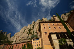 Monastery of Montserrat in the Catalan Pyrenees Royalty Free Stock Images