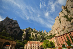 Monastery of Montserrat in the Catalan Pyrenees Royalty Free Stock Photography