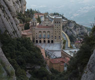 Monastery Montserrat Royalty Free Stock Photo