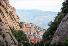 Monastery of Montserrat near Barcelona, Spain Stock Photos