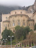 Monastery in Montserrat Spain. In a mountain Montserrat Spain, a nice monastery in the clouds Royalty Free Stock Images