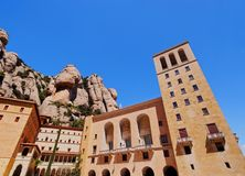 Monastery in Montserrat, Spain stock photos