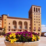 Monastery in Montserrat, Spain royalty free stock photos