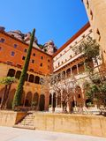 Monastery in Montserrat, Spain royalty free stock image