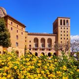 Monastery in Montserrat, Spain stock photo