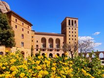 Monastery in Montserrat, Spain stock image