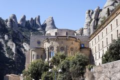 Monastery of Montserrat. Royalty Free Stock Photos