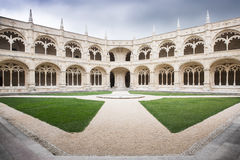 Monastery Mosteiro dos Jeronimos in Lisbon Royalty Free Stock Photo