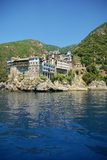 Monastery in Mount Athos Royalty Free Stock Photography
