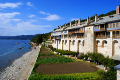 Monastery on Mount Athos Royalty Free Stock Photo