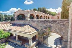 Monastery on Mount Filerimos on Rhodes Royalty Free Stock Photos
