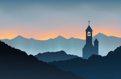 Monastery on the Mountain Royalty Free Stock Photography