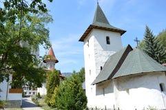Monastery  the mountain areas in Transilvania, Romania Stock Photos