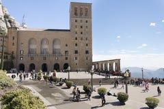 Monastery on the mountain of Montserrat. Stock Photography