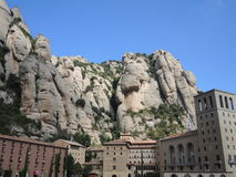 The monastery on the mountain of Montserrat Royalty Free Stock Image