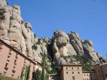 The monastery on the mountain of Montserrat Stock Photo