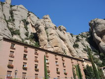 The monastery on the mountain of Montserrat Stock Photography
