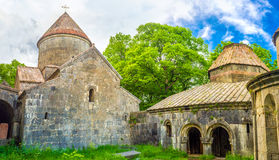 The monastery in mountains of Armenia stock image