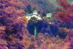 Monastery in the mountains autumn Europe Montenegro Royalty Free Stock Photo