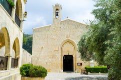 The monastery in mountains Royalty Free Stock Photos
