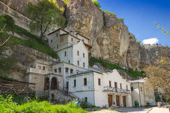 Monastery in the mountains Royalty Free Stock Image
