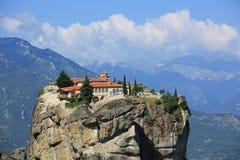 Monastery na skałach w Meteor Fotografia Stock