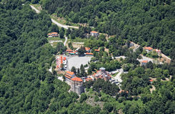 Monastery of Nea Panagia Soumela in Kastania, Imathia, Greece Stock Photography