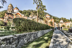The monastery of new Athos. Royalty Free Stock Photography