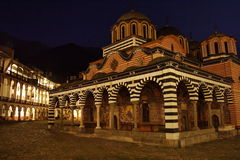 Monastery by night Royalty Free Stock Image