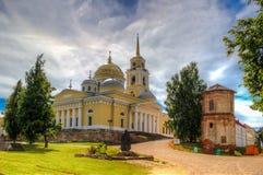 Monastery  Nilo-Stolobenskaya Pustyn. Monastery of Nilo-Stolobenskaya Pustyn Russia Seliger Tver oblast Ostashkov Cathedral  Epiphany Stock Photography