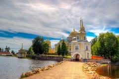 Monastery  Nilo-Stolobenskaya Pustyn. Monastery of Nilo-Stolobenskaya Pustyn Russia Seliger Tver oblast Ostashkov Cathedral  Epiphany Stock Photos