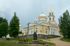 Monastery Nilov and sculpture of Reverend  Nile. Tver area. Russ Stock Image