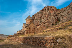 Monastery Noravank in the mountains in Amaghu valley, Armenia Royalty Free Stock Images
