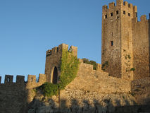 Monastery of Obidos, Portugal. In sunset light Royalty Free Stock Photo