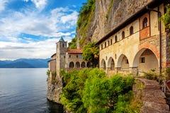Free Monastery Of Santa Caterina Del Sasso On Lago Maggiore Lake, Italy Royalty Free Stock Photos - 147277818