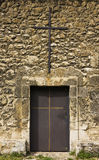 Monastery old metal  door Royalty Free Stock Image
