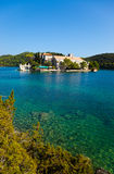Monastery On Island Royalty Free Stock Photos