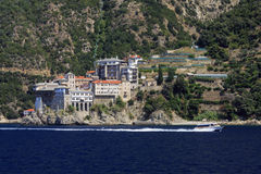 Monastery St. Gregory at Mount Athos Royalty Free Stock Images