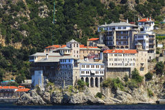 Monastery Osiou Grigoriou, St. Gregory, at Mount Athos Stock Photo