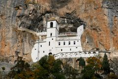 Monastery Ostrog royalty free stock photography