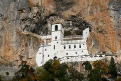 Monastery Ostrog Stock Photography