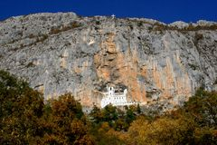 Monastery Ostrog Stock Photo