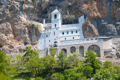 Monastery Ostrog is a monastery of Serbian Stock Image