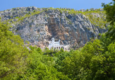 Monastery Ostrog is a monastery of Serbian Stock Photos