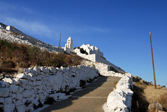 Monastery in Folegandros island, Greece Royalty Free Stock Photo