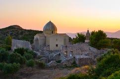 Monastery Panagia Skopiotissa, Zakynthos island, Greece royalty free stock photo