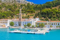 Monastery Panormitis. Symi Island Royalty Free Stock Photography